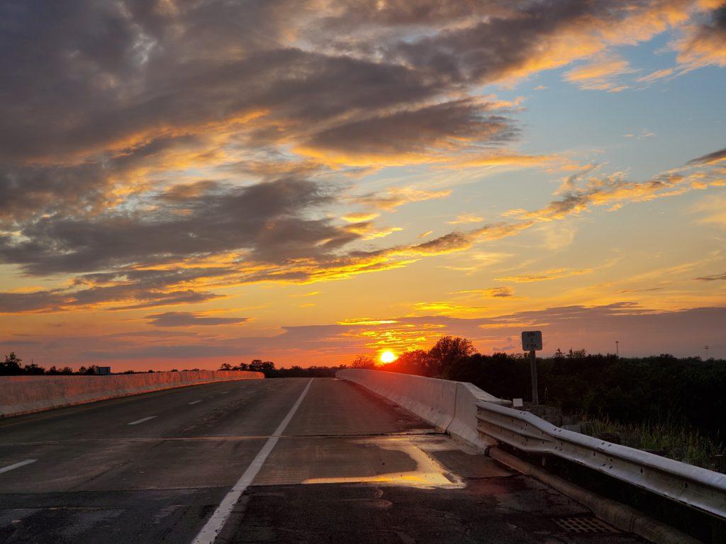 Sunset over Sandusky OH
